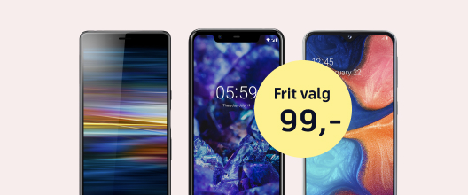 Vilde priser på en række mobiler