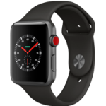 Apple Watch Series 3 - 42MM Alu Case Space Grey -  Black Sport Band - 4G