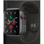 Apple Watch Series 5 - 44MM Alu Case Space Grey - Black Sport Band - 4G