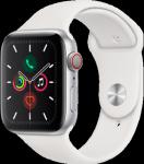 Apple Watch Series 5 - 44MM Alu Case Silver White - Sport Band - 4G