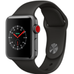 Apple Watch Series 3 -  38MM Alu Case Space Grey - Black Sport Band - 4G
