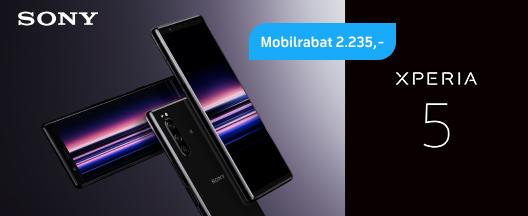 Den nye Sony Xperia 5 til kun 99,-/md.