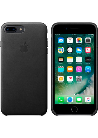 Apple iPhone 8+/7+ Leather Case Black