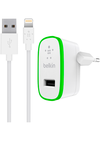 Belkin 2.4A oplader med Apple Lightning stik