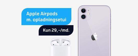 iPhone 11 til 145,-/md.