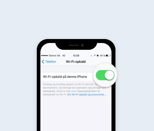 WiFi-opkald på din iPhone