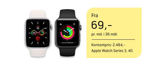 Skarpe priser på Apple Watch 4G
