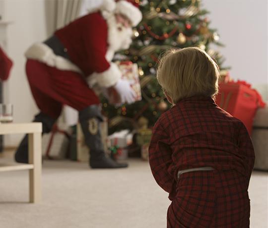 Julemanden kommer på besøg