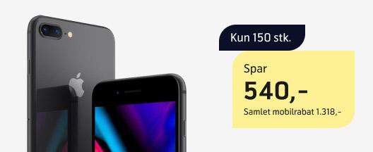 Spar 540 kr. ekstra på iPhone 8