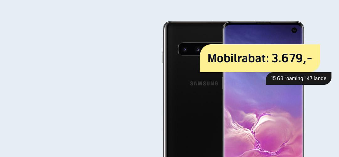 Vild mobilrabat på Samsung Galaxy S10
