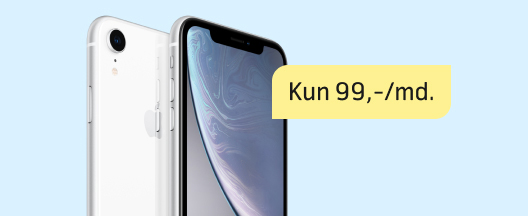 Forårskup på iPhone Xr med fri data