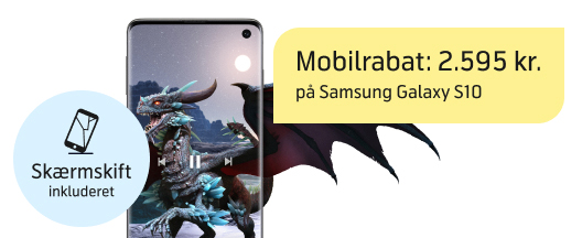 Samsung Galaxy S10 med vild mobilrabat