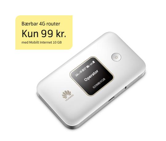 Sommertilbud på bærbar 4G router med 10 GB data