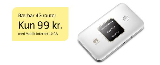 Sommertilbud på bærbar 4G router