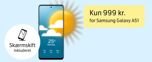 Samsung Galaxy A51 til en super skarp pris