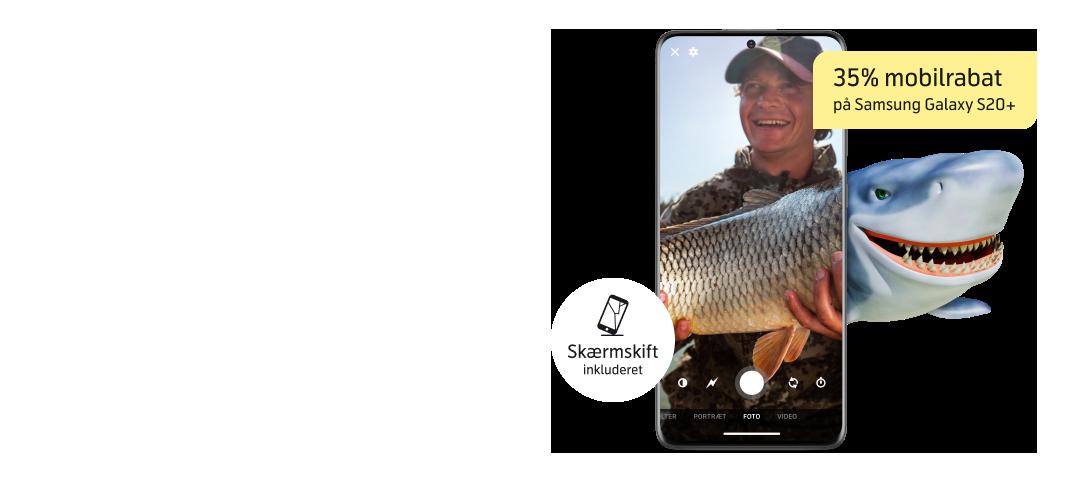 Samsung Galaxy S20+ med vild mobilrabat