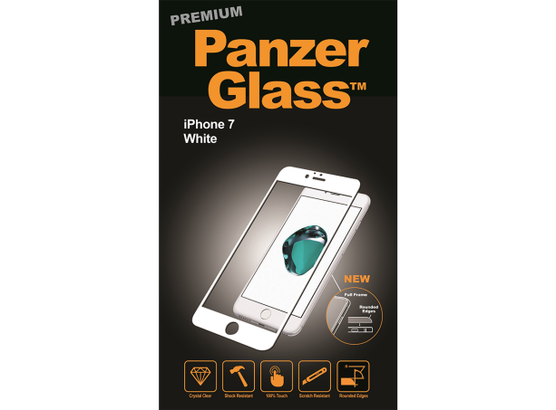 PanzerGlass Premium iPhone 7 Hvid