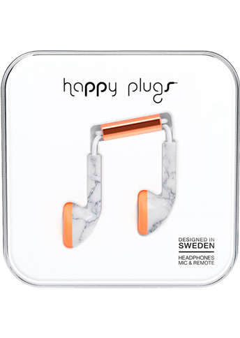 Happy Plugs Earbud White Carrara Marble